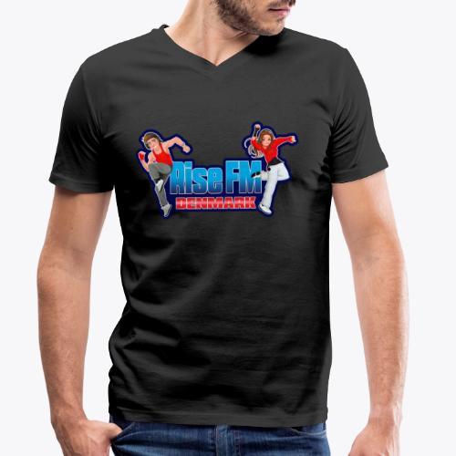 Rise FM Denmark Full Logo - Økologisk Stanley & Stella T-shirt med V-udskæring til herrer