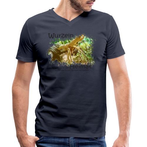 Wurzeln bleiben - Männer Bio-T-Shirt mit V-Ausschnitt von Stanley & Stella