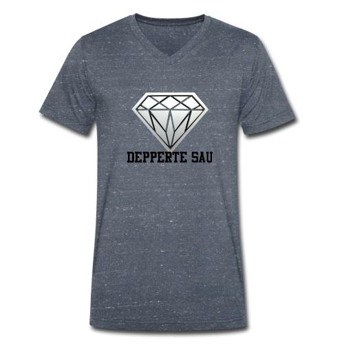 Depperte Sau Shop - Männer Bio-T-Shirt mit V-Ausschnitt von Stanley & Stella