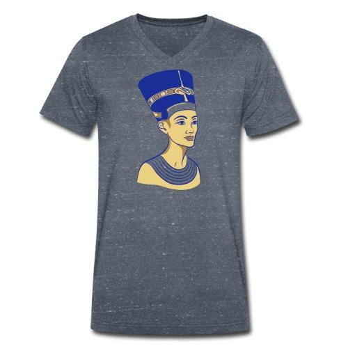 Nefertiti - Nofretete - Die Schöne - Männer Bio-T-Shirt mit V-Ausschnitt von Stanley & Stella