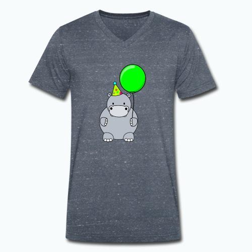 Henri Hippo Party - Appelsin - Ekologisk T-shirt med V-ringning herr från Stanley & Stella