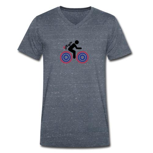 Black side moto premium - T-shirt ecologica da uomo con scollo a V di Stanley & Stella