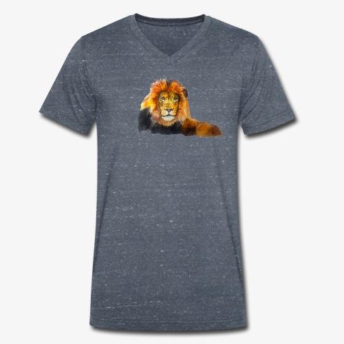 Lion - Men's Organic V-Neck T-Shirt by Stanley & Stella