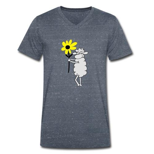 blumengeschenk_3farb - Männer Bio-T-Shirt mit V-Ausschnitt von Stanley & Stella