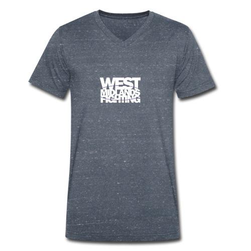 tshirt wmf white 2 - Men's Organic V-Neck T-Shirt by Stanley & Stella
