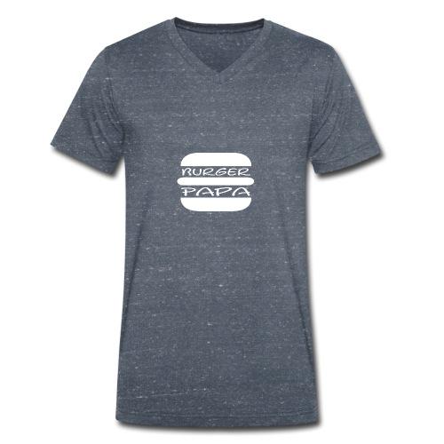 Burger Papa - Er macht einfach die besten Burger - Männer Bio-T-Shirt mit V-Ausschnitt von Stanley & Stella