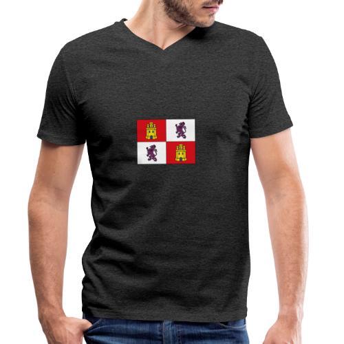 ESCUDO CASTILLA Y LEON - Camiseta ecológica hombre con cuello de pico de Stanley & Stella