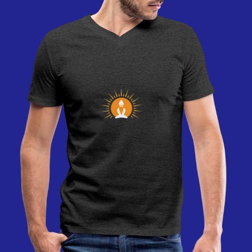 Guramylyfe logo white no text - Men's Organic V-Neck T-Shirt by Stanley & Stella