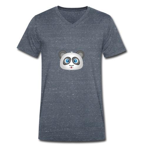 panda head / cabeza de panda 2 - Camiseta ecológica hombre con cuello de pico de Stanley & Stella