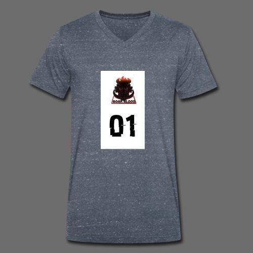 Boar blood 01 - Ekologiczna koszulka męska z dekoltem w serek Stanley & Stella