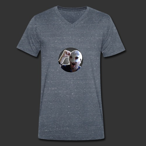 Logo kanału wicek3d na Youtube - Ekologiczna koszulka męska z dekoltem w serek Stanley & Stella