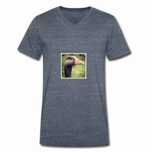 Original Artist design * Coin Coin - Men's Organic V-Neck T-Shirt by Stanley & Stella