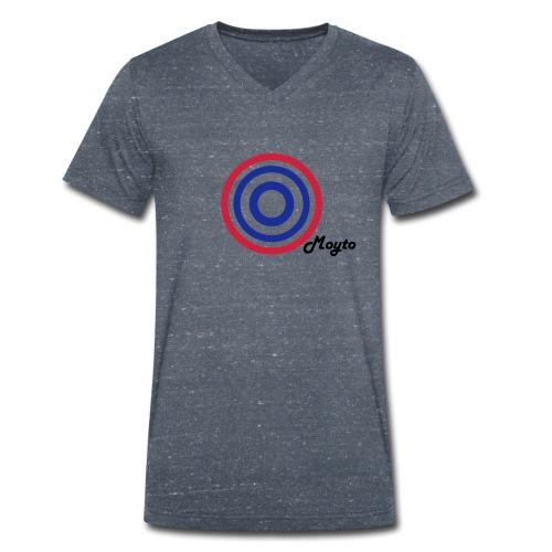 MOYTO BLACK SIDE - T-shirt ecologica da uomo con scollo a V di Stanley & Stella