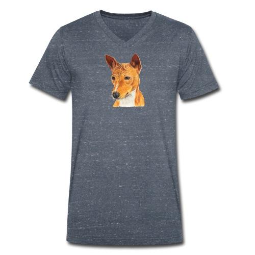 Basenji - Økologisk Stanley & Stella T-shirt med V-udskæring til herrer