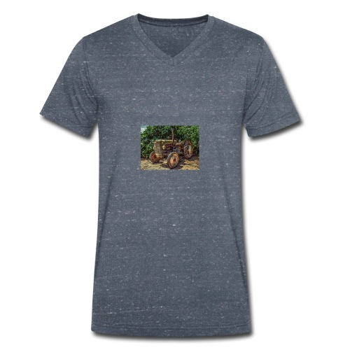 tractor - Men's Organic V-Neck T-Shirt by Stanley & Stella