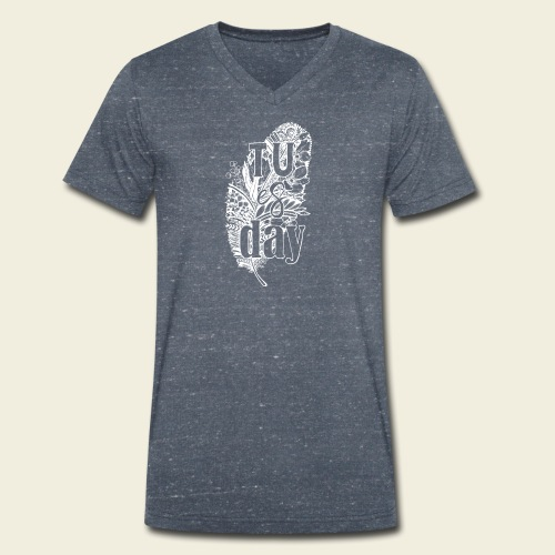 Tu-es-day - white - Männer Bio-T-Shirt mit V-Ausschnitt von Stanley & Stella