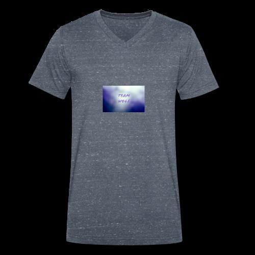 Team Wolf Box - Men's Organic V-Neck T-Shirt by Stanley & Stella
