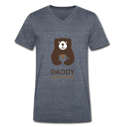 Papa aime le café - T-shirt bio col V Stanley & Stella Homme