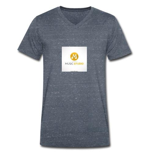 music studio tienda - Camiseta ecológica hombre con cuello de pico de Stanley & Stella
