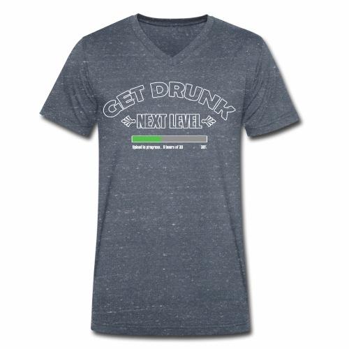 Get Drunk - Mannen bio T-shirt met V-hals van Stanley & Stella