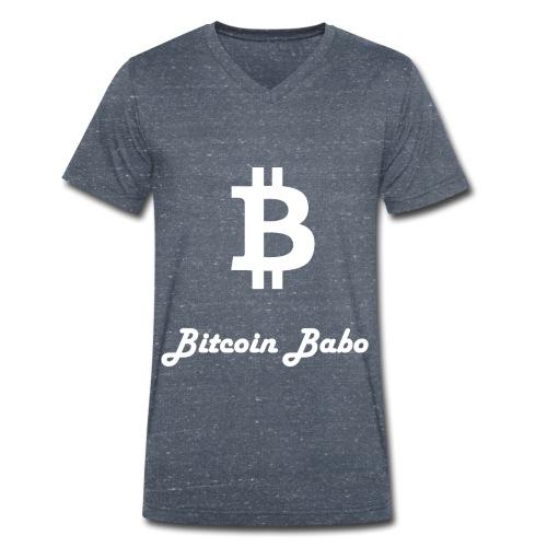 Bitcoin Babo - Männer Bio-T-Shirt mit V-Ausschnitt von Stanley & Stella