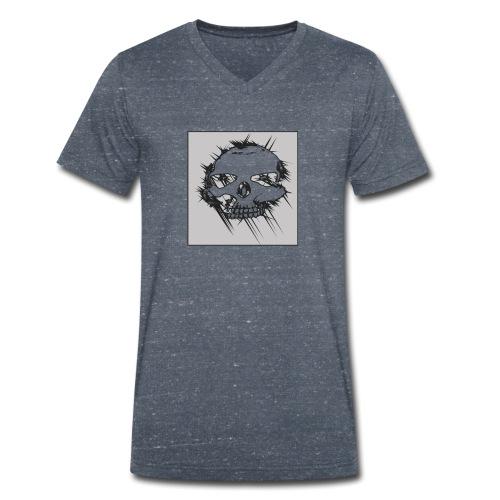 calavera gris - Camiseta ecológica hombre con cuello de pico de Stanley & Stella