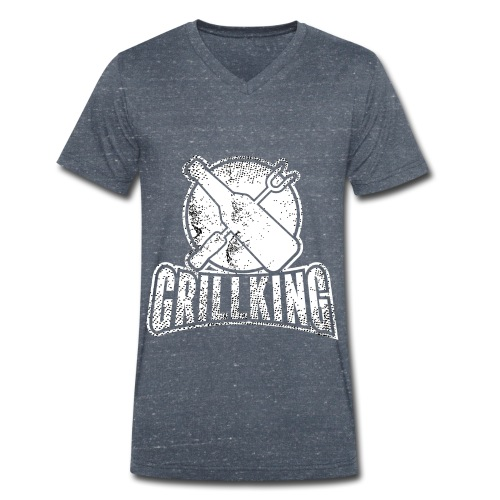 Grillking - Männer Bio-T-Shirt mit V-Ausschnitt von Stanley & Stella