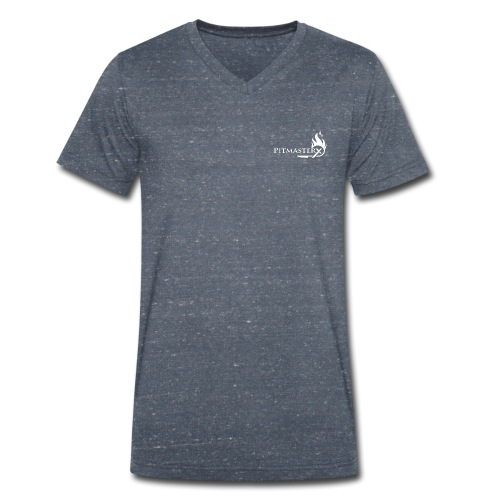 white logo pmx v2 - Men's Organic V-Neck T-Shirt by Stanley & Stella