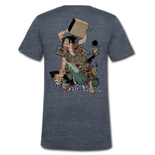 Sato Tadanobu with a goban - Mannen bio T-shirt met V-hals van Stanley & Stella