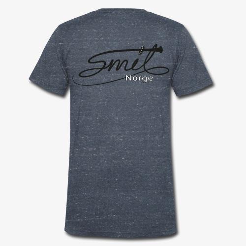 Smil-Norge - Økologisk T-skjorte med V-hals for menn fra Stanley & Stella