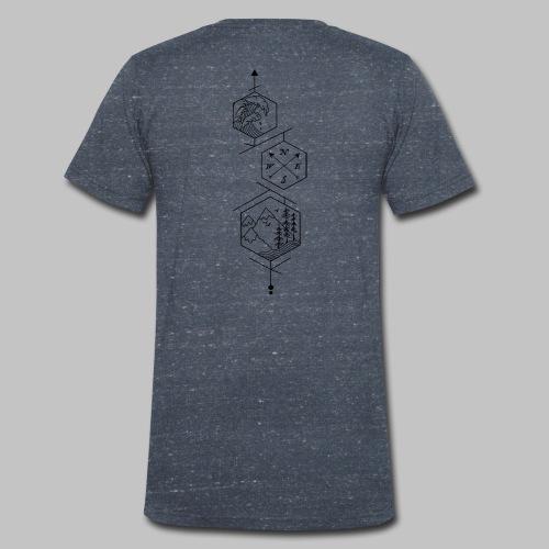 hexagones - Men's Organic V-Neck T-Shirt by Stanley & Stella