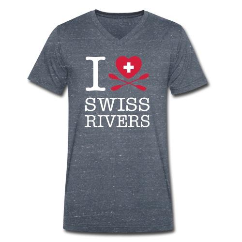 I LoveSwiss Rivers_MEN_VS - Männer Bio-T-Shirt mit V-Ausschnitt von Stanley & Stella