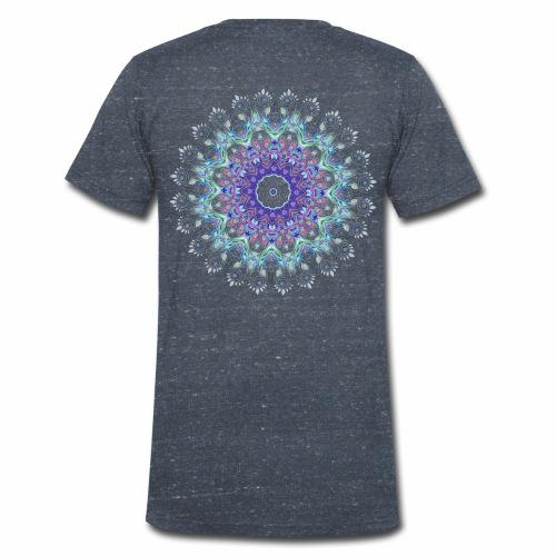 Lilla mandala pastel - Økologisk Stanley & Stella T-shirt med V-udskæring til herrer