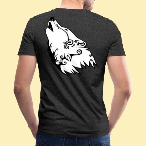 Le Loup de Neved (version blanche) - T-shirt bio col V Stanley & Stella Homme