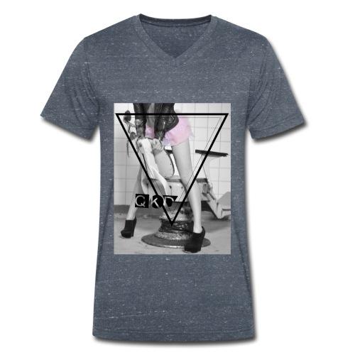 Pinker Tütü jpg - Männer Bio-T-Shirt mit V-Ausschnitt von Stanley & Stella