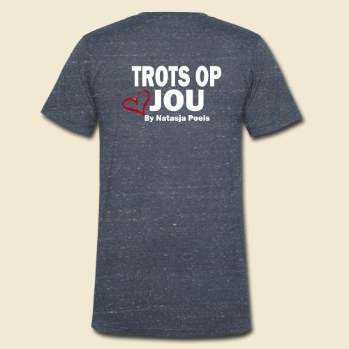 Trots op Jou by Natasja Poels - Mannen bio T-shirt met V-hals van Stanley & Stella