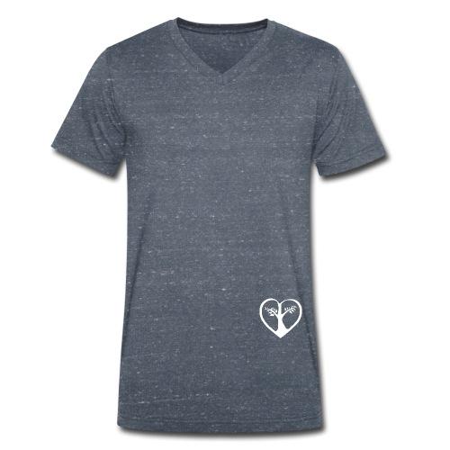 chooselove qu 1c symbol weiß png - Männer Bio-T-Shirt mit V-Ausschnitt von Stanley & Stella