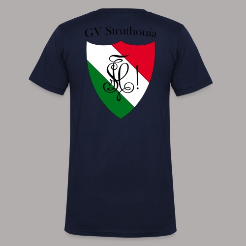 Wappen Struthonia beschriftet - Männer Bio-T-Shirt mit V-Ausschnitt von Stanley & Stella
