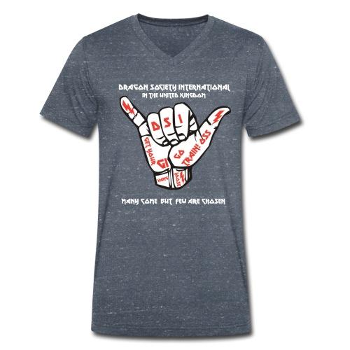 DSI White lettering - Men's Organic V-Neck T-Shirt by Stanley & Stella