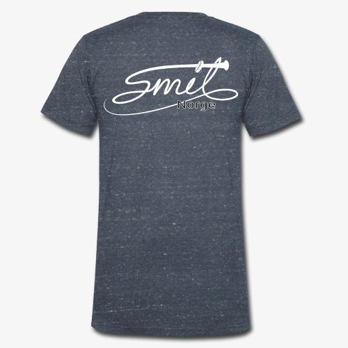 Smil Norge - Økologisk T-skjorte med V-hals for menn fra Stanley & Stella