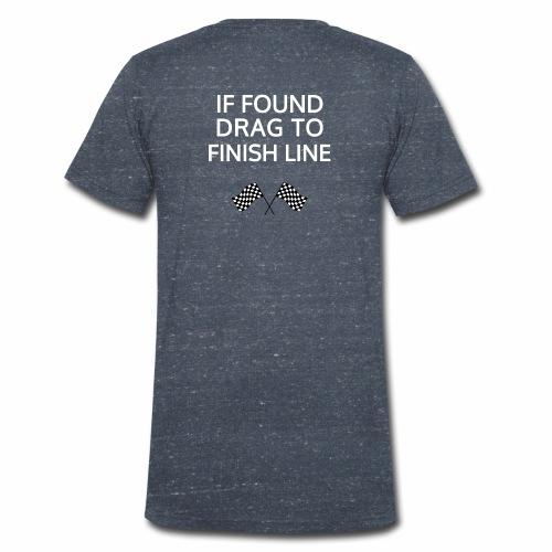 If found, drag to finish line - hardloopshirt - Mannen bio T-shirt met V-hals van Stanley & Stella