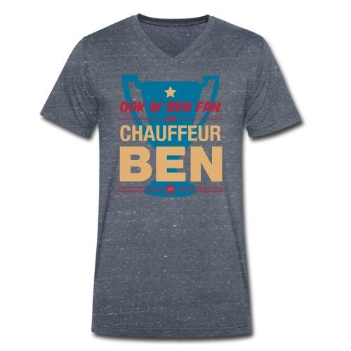 Chauff ben shirt - Mannen bio T-shirt met V-hals van Stanley & Stella