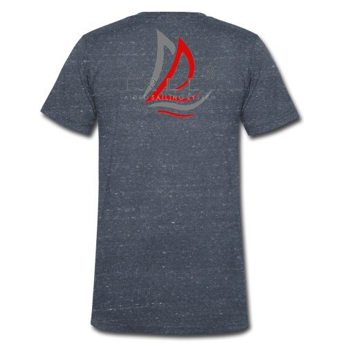Free3 Aided Sailing System - T-shirt ecologica da uomo con scollo a V di Stanley & Stella