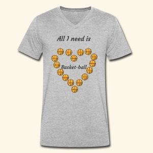 All I need is Basket-ball - T-shirt bio col V Stanley & Stella Homme