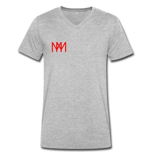 MOTO MOBSTER LOGO ROT - Männer Bio-T-Shirt mit V-Ausschnitt von Stanley & Stella
