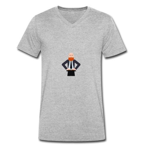 Thilos Logo - Økologisk Stanley & Stella T-shirt med V-udskæring til herrer