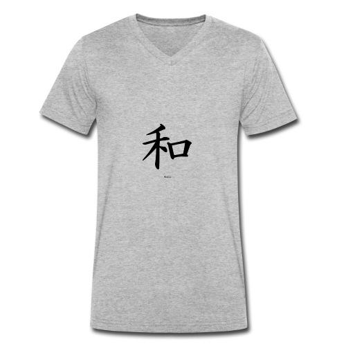 Kinesisk - Økologisk T-skjorte med V-hals for menn fra Stanley & Stella