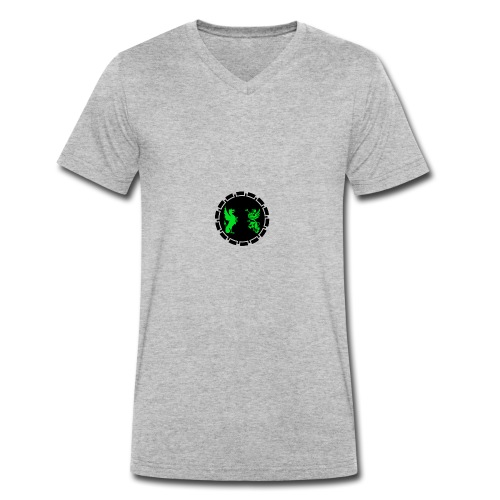 ZEGZ EMBLEM - Ekologisk T-shirt med V-ringning herr från Stanley & Stella