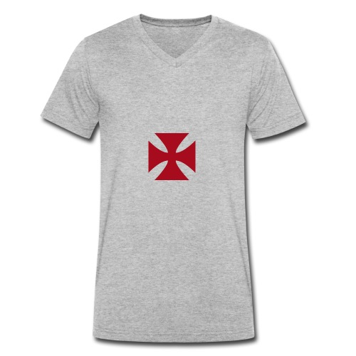 Cruz de malta - Camiseta ecológica hombre con cuello de pico de Stanley & Stella