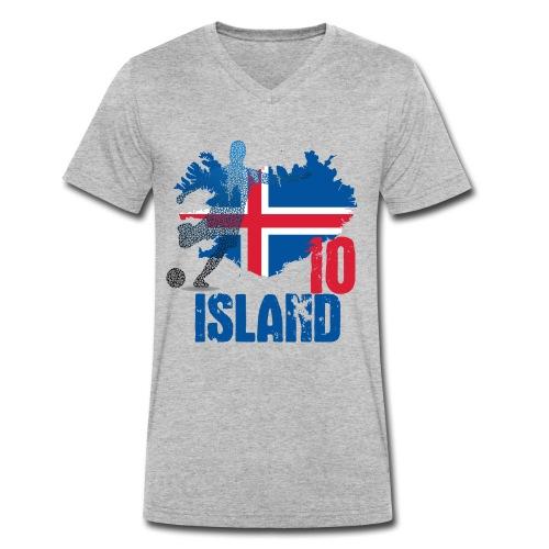 Island Tee 10 - Männer Bio-T-Shirt mit V-Ausschnitt von Stanley & Stella